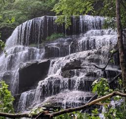 crashing waterfall