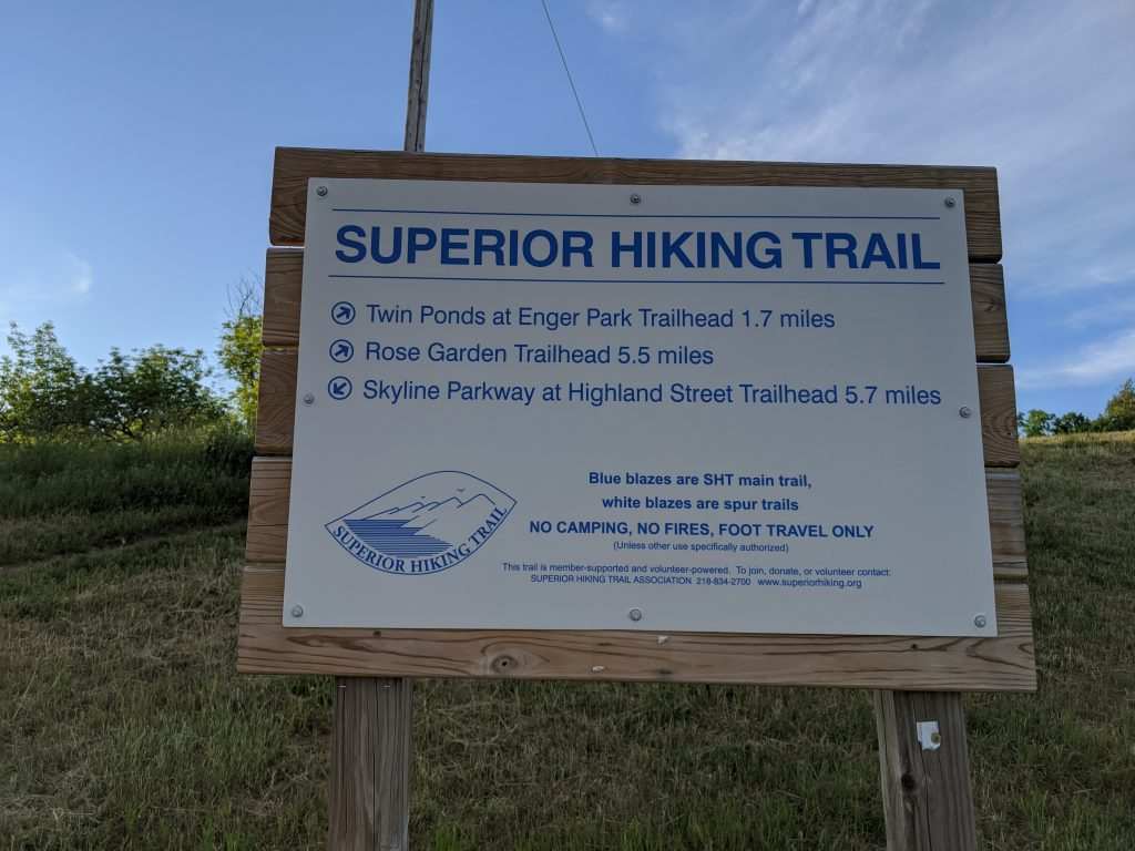 hike sign
