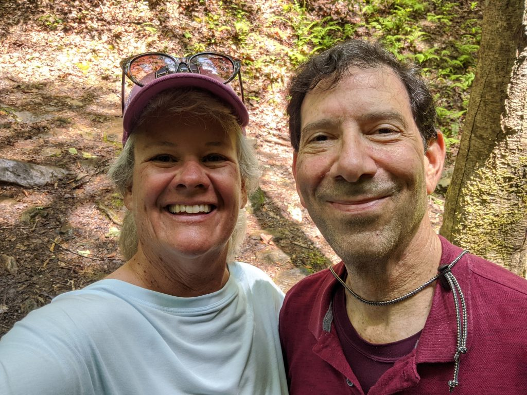 very handsome hiking couple