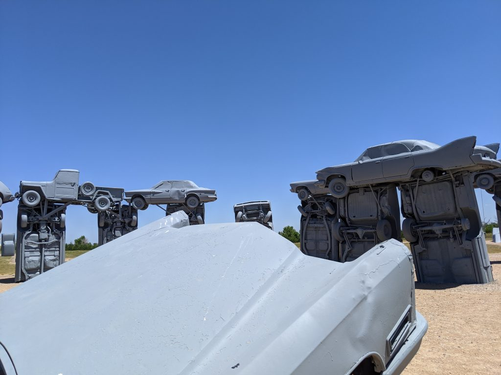old cars at carhenge
