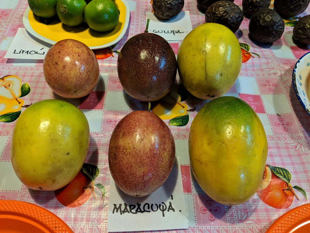 6 different varieties of maracoya i