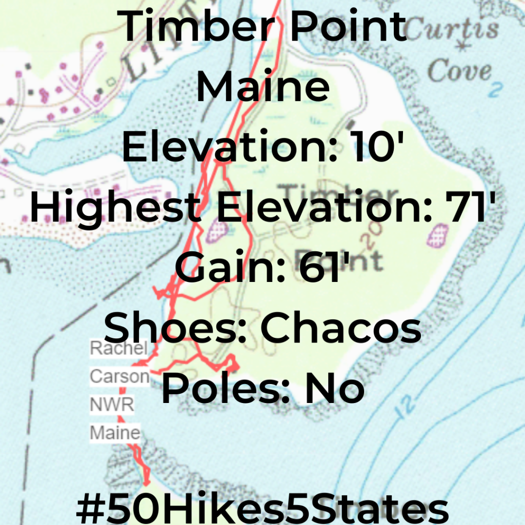hiking map timber point