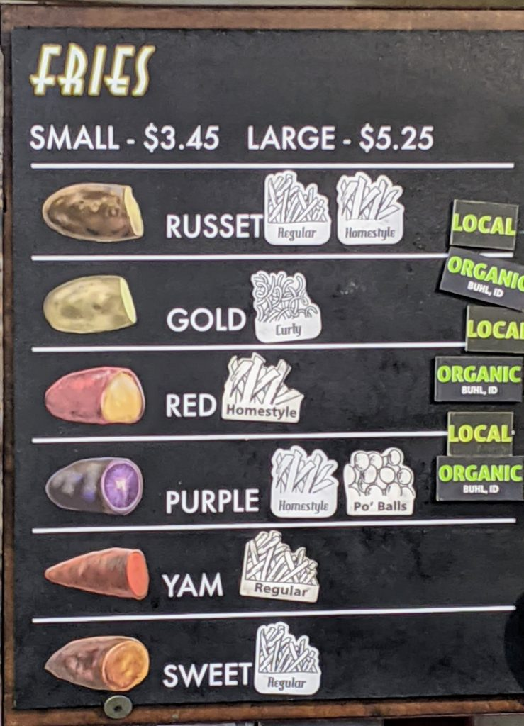 potato sign