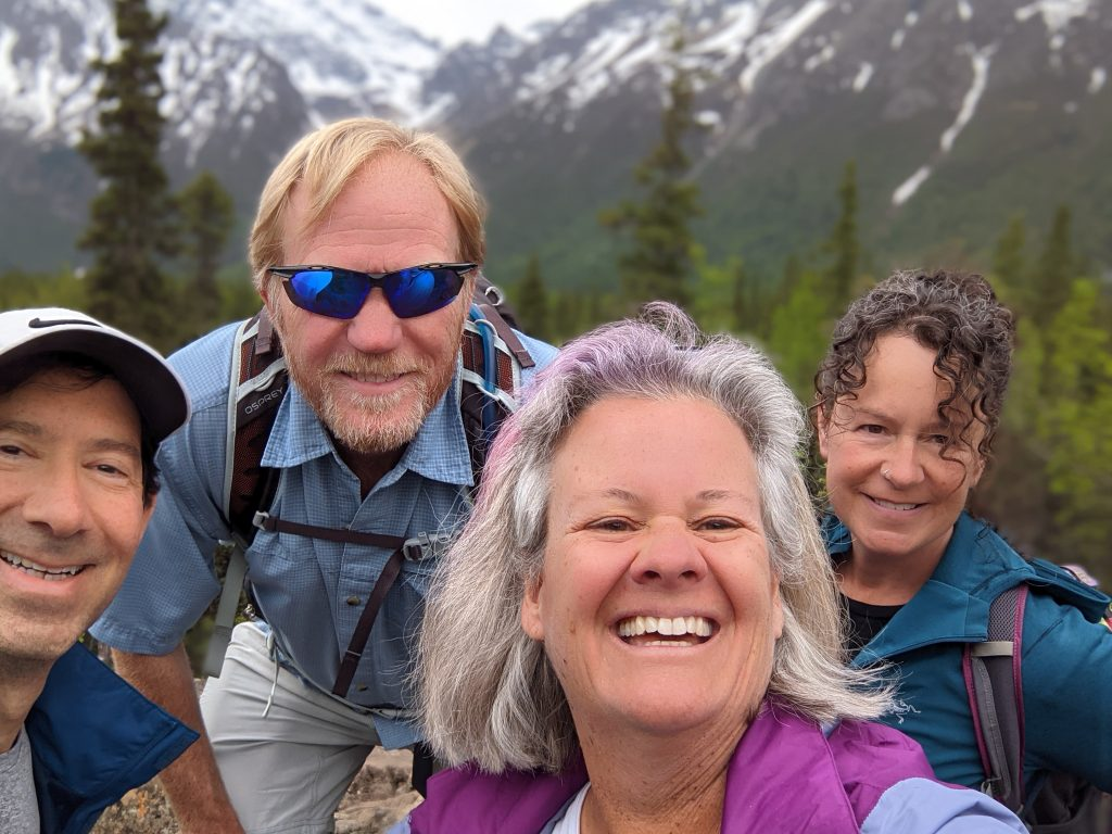four handsome hikers