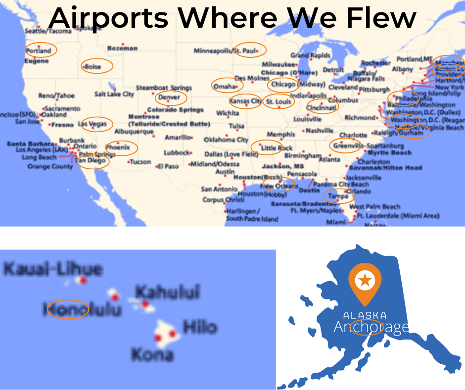 map of where we flew