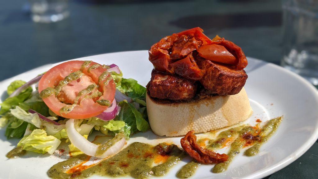 grilled greek sandwich