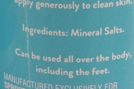 Mineral Salts Deodorant Product Review